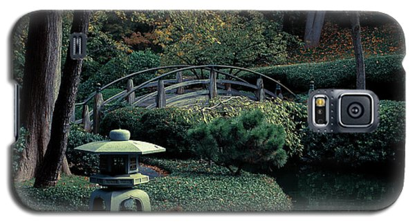 Galaxy S5 Case featuring the photograph Japanese Garden In Summer by Iris Greenwell