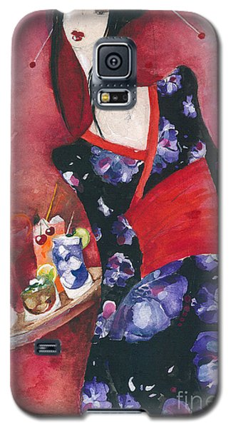 Galaxy S5 Case featuring the painting Japanese Girl by Maya Manolova