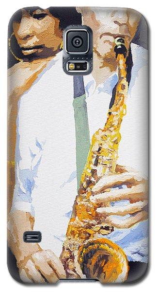 Portret Galaxy S5 Case - Jazz Muza Saxophon by Yuriy Shevchuk