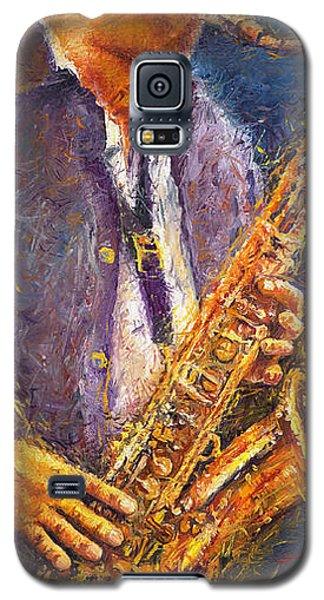Jazz Saxophonist Galaxy S5 Case by Yuriy  Shevchuk