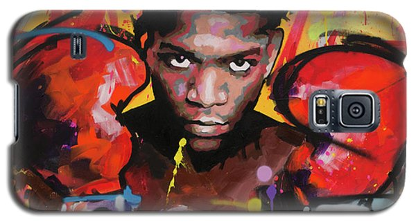 Galaxy S5 Case featuring the painting Jean Michel Basquiat by Richard Day