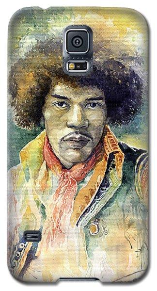 Portret Galaxy S5 Case - Jimi Hendrix 06 by Yuriy Shevchuk