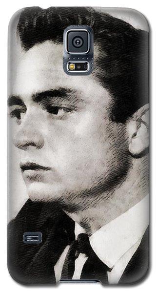 Johnny Cash, Singer Galaxy S5 Case by John Springfield