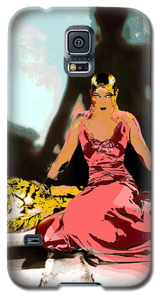 Galaxy S5 Case featuring the mixed media Josephine Baker by Charles Shoup