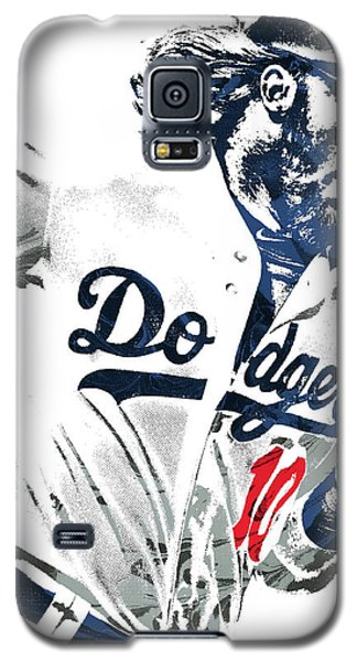Los Angeles Dodgers Galaxy S5 Case - Justin Turner Los Angeles Dodgers Pixel Art by Joe Hamilton