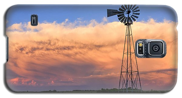 Kansas Windmill And Storm Galaxy S5 Case