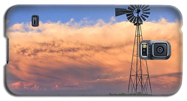 Kansas Windmill And Storm Galaxy S5 Case