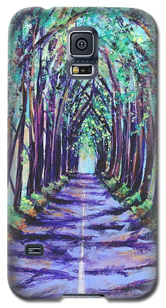 Galaxy S5 Case featuring the painting Kauai Tree Tunnel by Marionette Taboniar