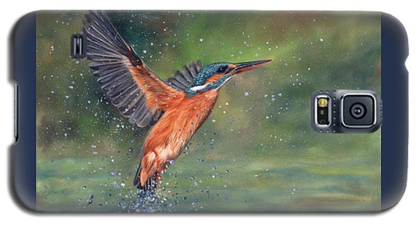 Galaxy S5 Case featuring the painting Kingfisher by David Stribbling