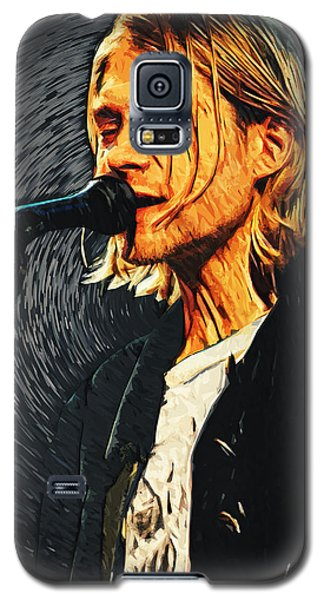 Kurt Cobain Galaxy S5 Case by Taylan Apukovska