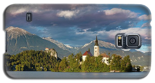 Galaxy S5 Case featuring the photograph Lake Bled Evening by Brian Jannsen