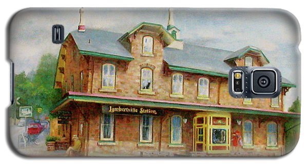 Galaxy S5 Case featuring the painting Lambertville Inn by Oz Freedgood