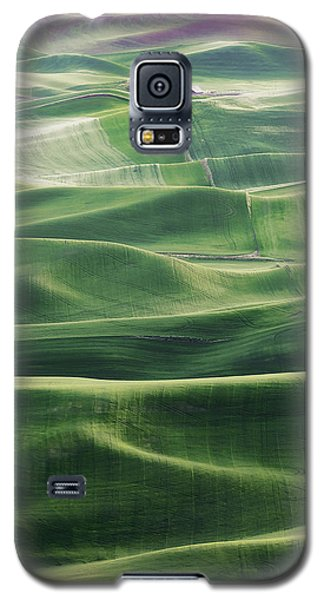 Galaxy S5 Case featuring the photograph Land Waves by Ryan Manuel
