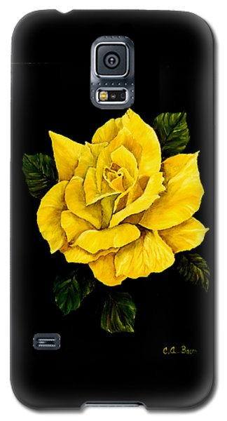 Large Yellow Rose Galaxy S5 Case