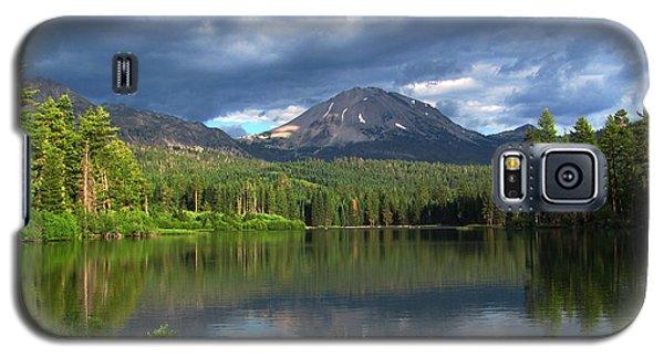 Galaxy S5 Case featuring the digital art Lassen Peak  by Irina Hays
