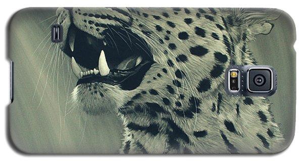 Galaxy S5 Case featuring the digital art Leopard Portrait by Aaron Blaise