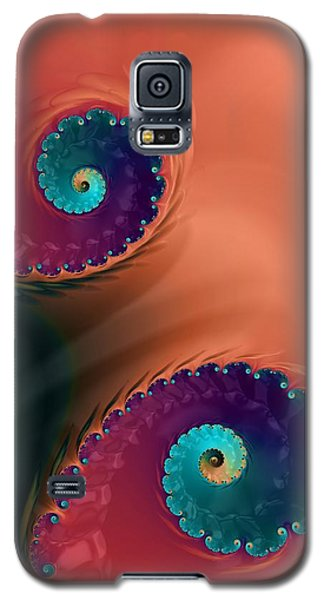 Galaxy S5 Case featuring the  Life's Paths by Bonnie Bruno