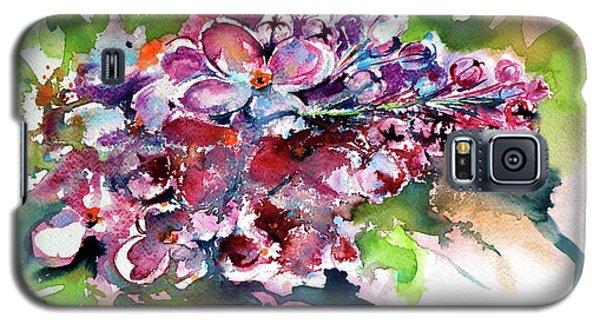 Lilac Galaxy S5 Case by Kovacs Anna Brigitta
