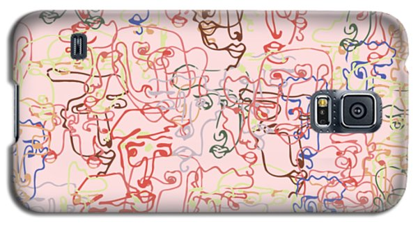 line faces I Galaxy S5 Case