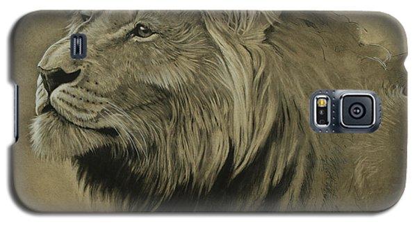 Galaxy S5 Case featuring the digital art Lion Portrait by Aaron Blaise