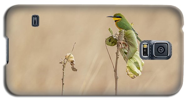 Galaxy S5 Case featuring the tapestry - textile Little Bee-eater by Kathy Adams Clark