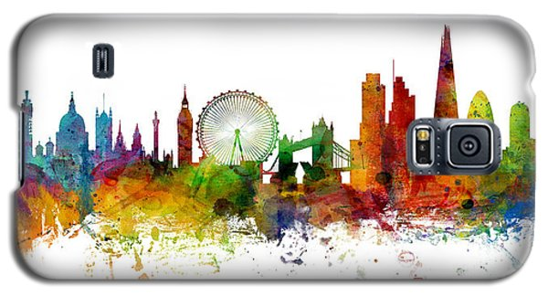 London England Skyline Panoramic Galaxy S5 Case by Michael Tompsett