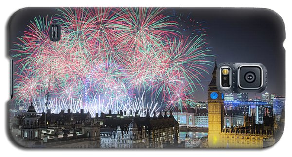 London New Year Fireworks Display Galaxy S5 Case
