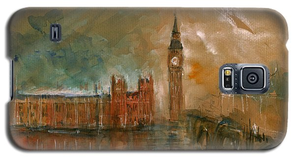 London Watercolor Painting Galaxy S5 Case