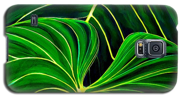 Galaxy S5 Case featuring the painting Lovely Greens by Debbie Chamberlin