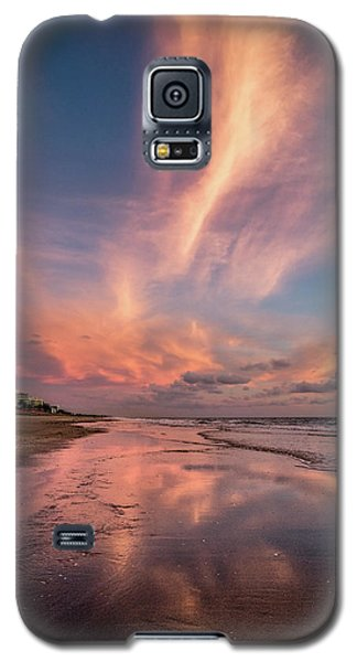 Galaxy S5 Case featuring the photograph Low Tide Mirror by Debra and Dave Vanderlaan