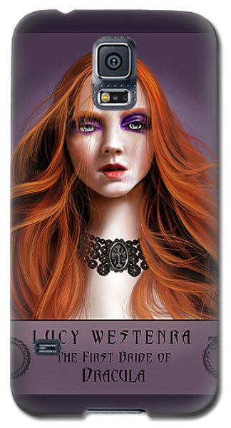 Galaxy S5 Case featuring the painting Lucy Westenra by James Christopher Hill