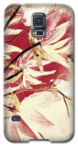 Magnolia Galaxy S5 Case - Magnolia Abstract by Maria Urso