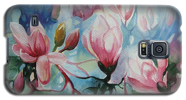 Galaxy S5 Case featuring the painting Magnolia by Elena Oleniuc