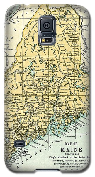 Maine Antique Map 1891 Galaxy S5 Case by Phil Cardamone