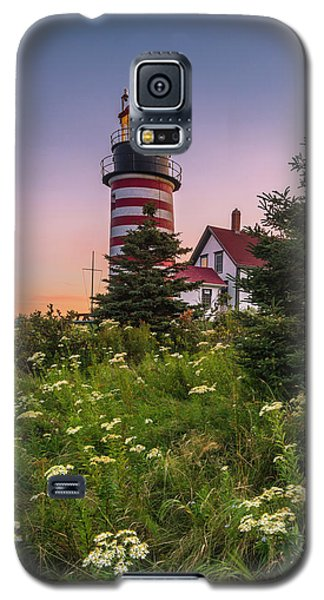 Maine West Quoddy Head Light At Sunset Galaxy S5 Case