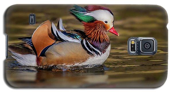 Galaxy S5 Case featuring the photograph Mandarin Duck  by Susan Candelario