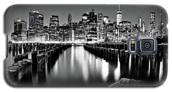 Manhattan Skyline At Night Galaxy S5 Case by Az Jackson