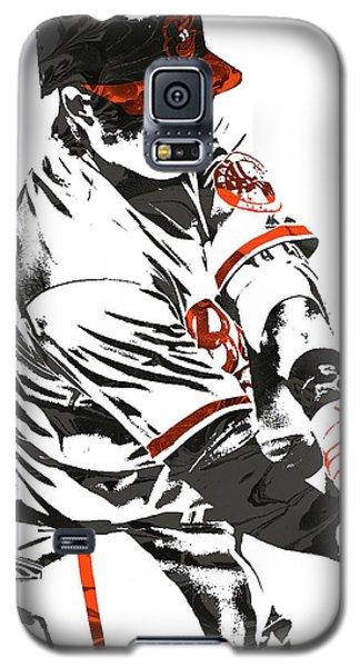 Galaxy S5 Case featuring the mixed media Manny Machado Baltimore Orioles Pixel Art by Joe Hamilton