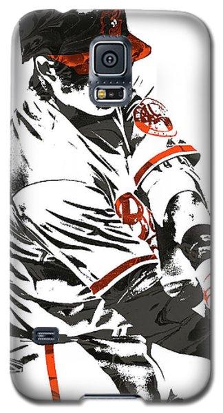 Oriole Galaxy S5 Case - Manny Machado Baltimore Orioles Pixel Art by Joe Hamilton