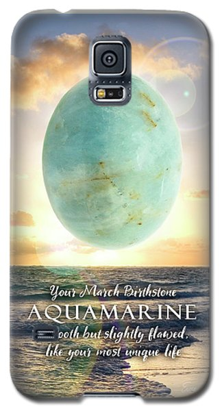 March Birthstone Aquamarine Galaxy S5 Case