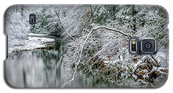 Galaxy S5 Case featuring the photograph March Snow Cranberry River by Thomas R Fletcher
