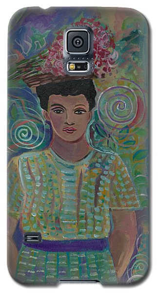 Galaxy S5 Case featuring the painting Maria by John Keaton