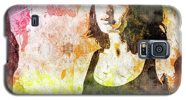 Galaxy S5 Case featuring the mixed media Maria Valverde by Svelby Art