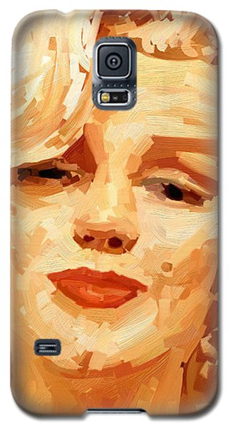 Galaxy S5 Case featuring the painting Marylin Monroe 3 by James Shepherd
