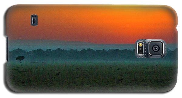 Galaxy S5 Case featuring the photograph Masai Mara Sunrise by Karen Lewis