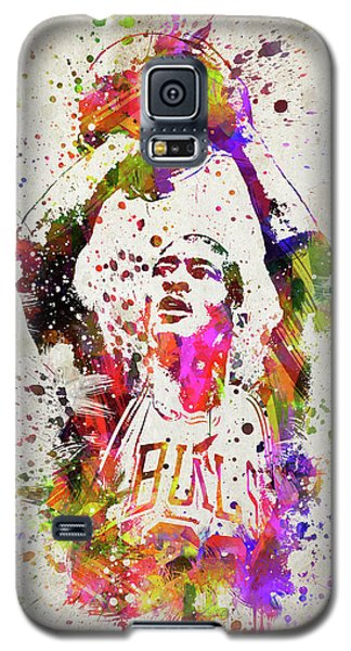 Michael Jordan In Color Galaxy S5 Case