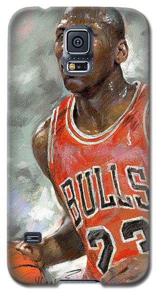 Basketball Galaxy S5 Case - Michael Jordan by Ylli Haruni