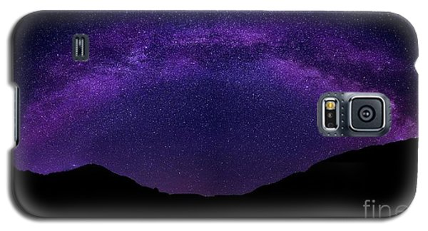 Galaxy S5 Case featuring the photograph milky way above the Alps by Hannes Cmarits