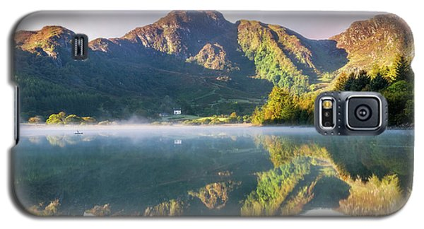 Galaxy S5 Case featuring the photograph Misty Dawn Lake by Ian Mitchell