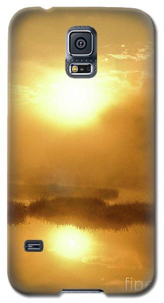 Galaxy S5 Case featuring the photograph Misty Gold by Tatsuya Atarashi